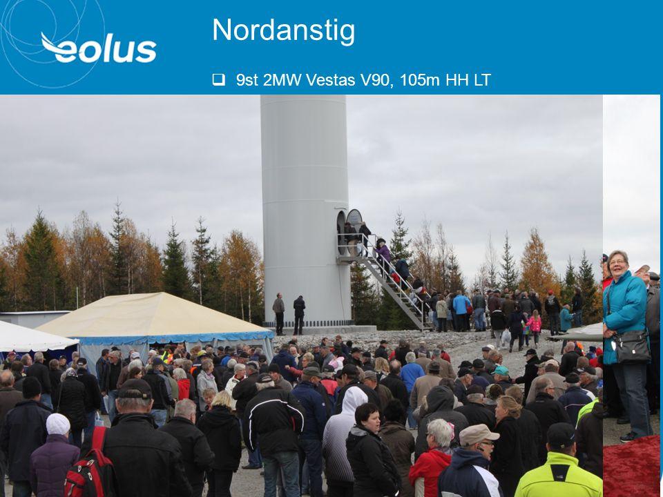 Nordanstig  9st 2MW Vestas V90, 105m HH LT  Samkraft  Huge Fastigheter  Eolus Vind  Bergsjö Vind  Nyvallsåsen Vind  m.fl.