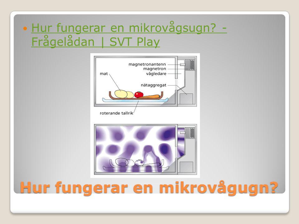 Hur fungerar en mikrovågugn?  Hur fungerar en mikrovågsugn? - Frågelådan | SVT Play Hur fungerar en mikrovågsugn? - Frågelådan | SVT Play