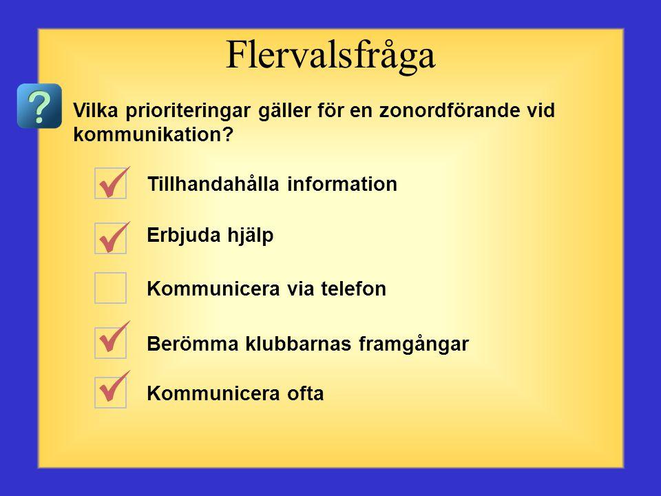 Talare och lyssnare Ordval Tonfall Geografisk belägenhet Kroppsspråk Flervalsfråga Vad ingår i kommunikation.