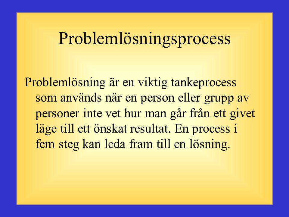 Definition Ett problem är ett hinder som gör det svårt att nå ett önskat mål, en föresats eller syfte.