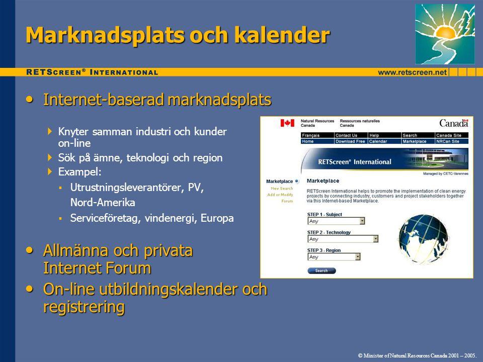 • Internet-baserad marknadsplats  Knyter samman industri och kunder on-line  Sök på ämne, teknologi och region  Exampel:  Utrustningsleverantörer,