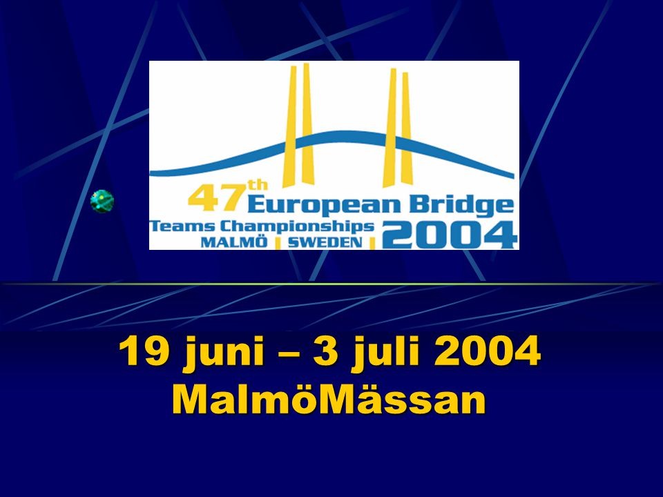Vad är EM i Bridge.Cirka 40 deltagande nationer.