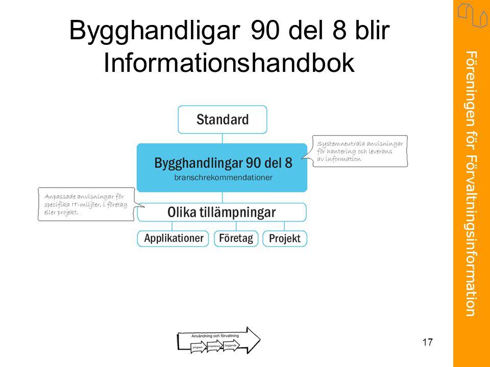Föreningen för Förvaltningsinformation 17 Bygghandligar 90 del 8 blir Informationshandbok