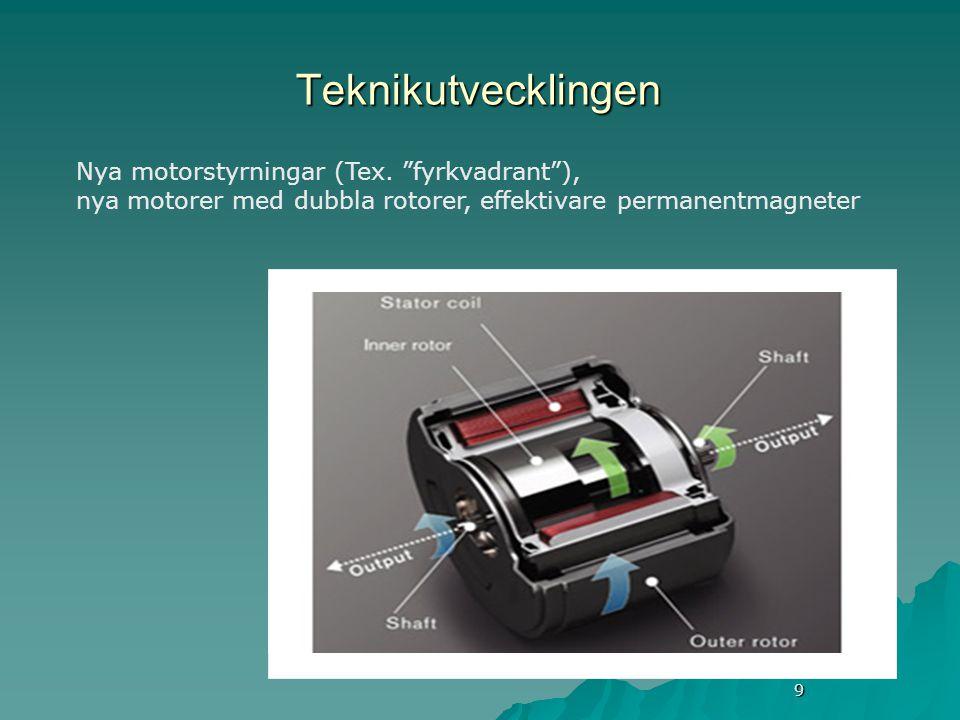 9 Teknikutvecklingen Nya motorstyrningar (Tex.