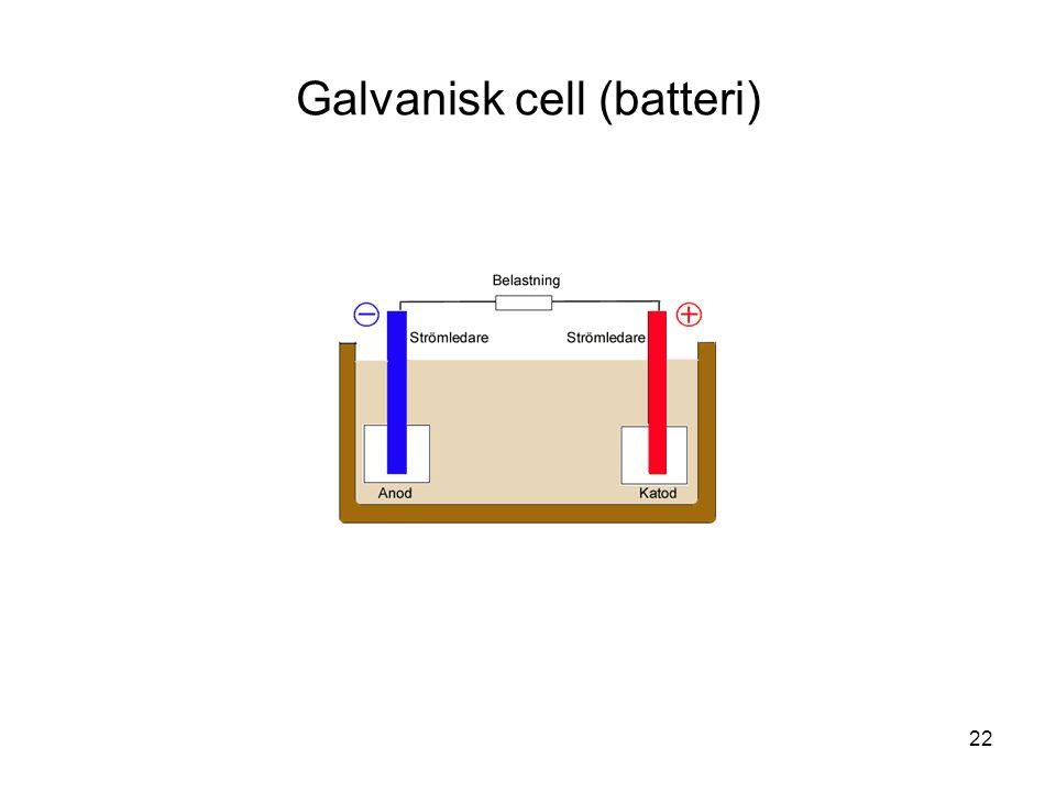 22 Galvanisk cell (batteri)