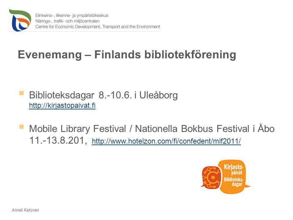 Evenemang – Finlands bibliotekförening  Biblioteksdagar 8.-10.6.