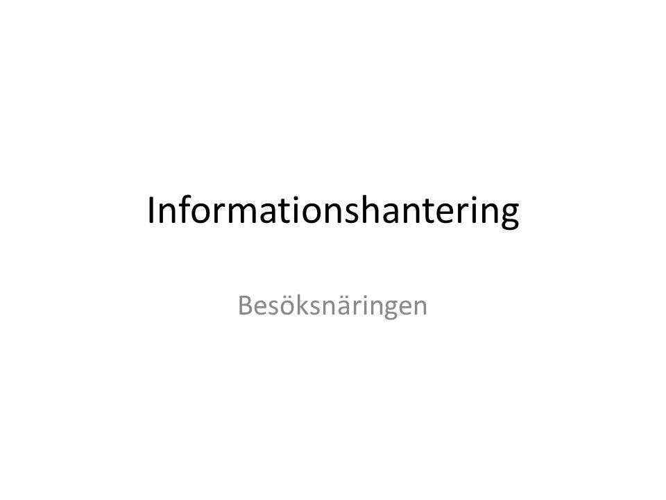 Informationshantering Besöksnäringen