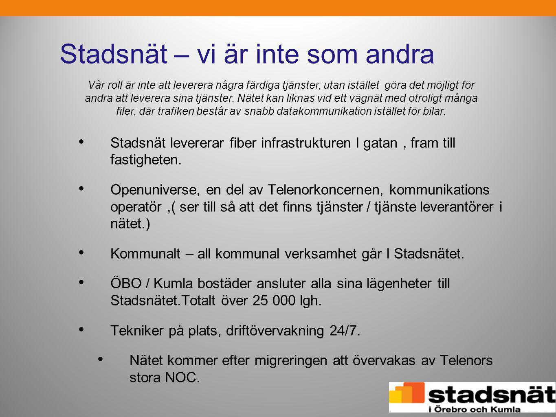Tjänster Drift Nät Internet, TV, Telefoni -En aktör styr kedjan och låser in användarna.