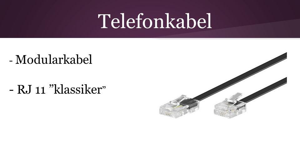 """Telefonkabel - Modularkabel - RJ 11 """"klassiker """""""