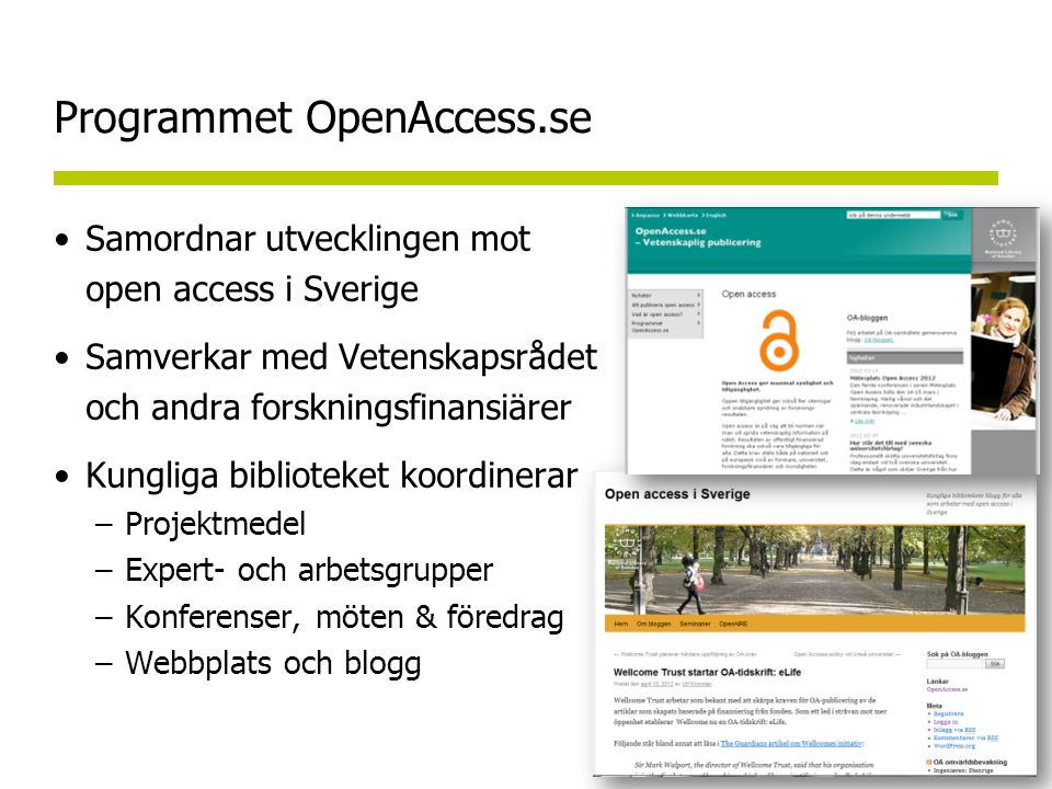 CRIS – Current Research Information System SweCRIS – Nationellt forskningsinformationssystem