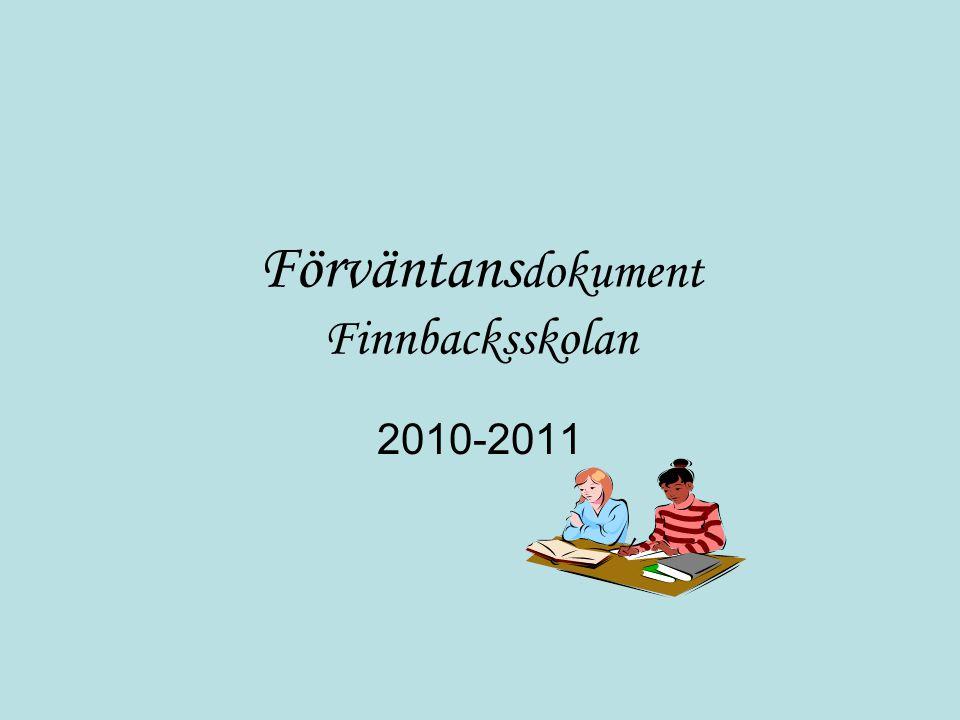 Förväntans dokument Finnbacksskolan 2010-2011
