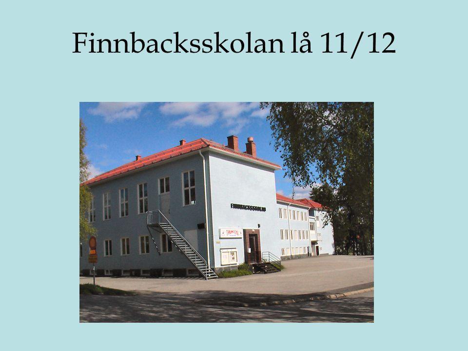 Finnbacksskolan lå 11/12