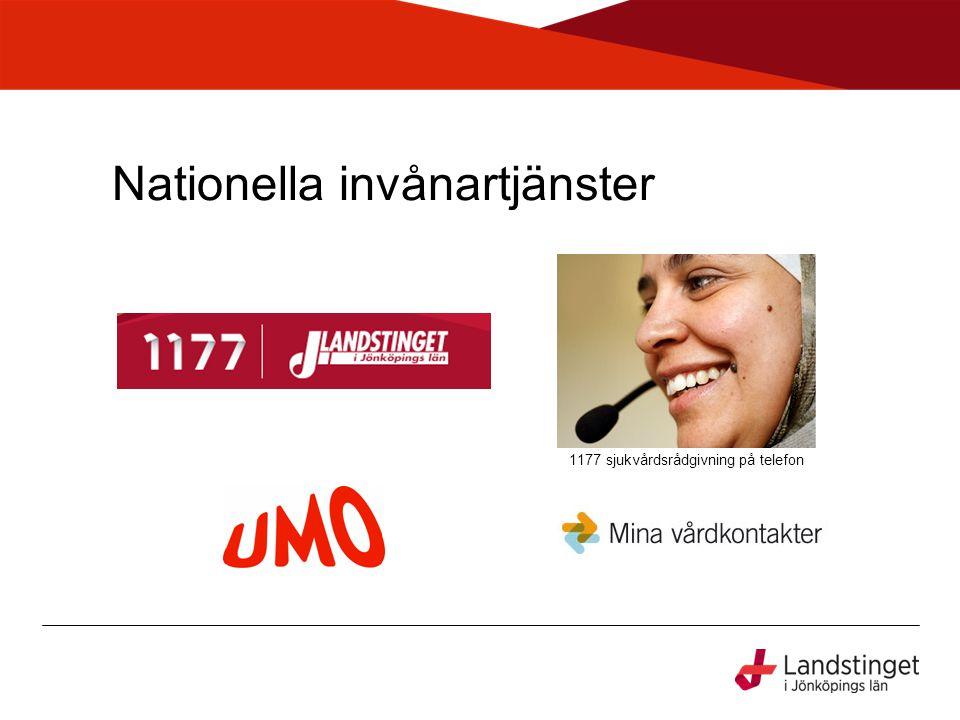 Nationella invånartjänster 1177 sjukvårdsrådgivning på telefon