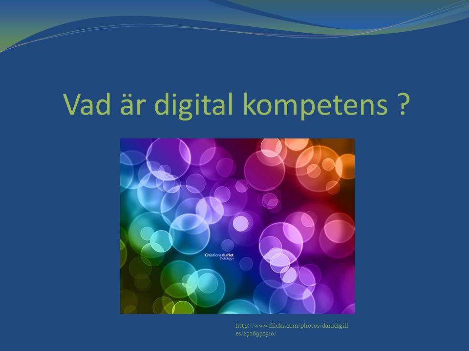 Vad är digital kompetens ? http://www.flickr.com/photos/danielgill es/2926992310/