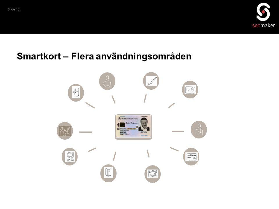 Slide 18 Smartkort – Flera användningsområden