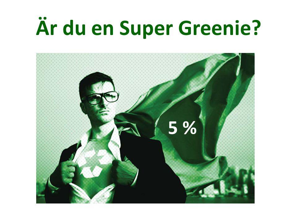 Är du en Super Greenie? 5 %