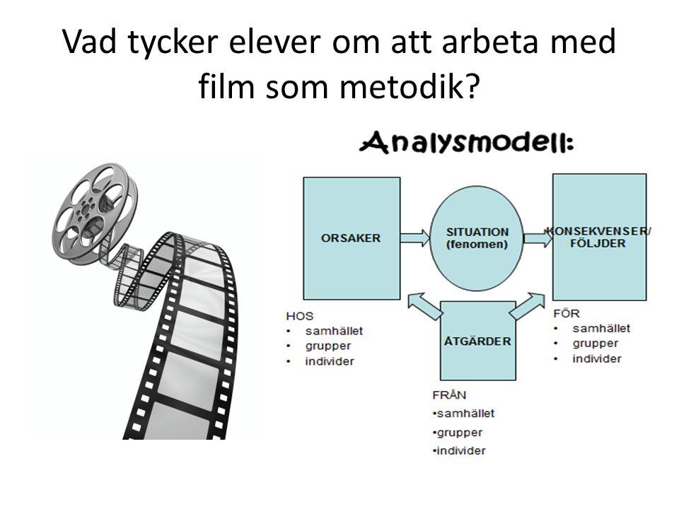 Vad tycker elever om att arbeta med film som metodik?