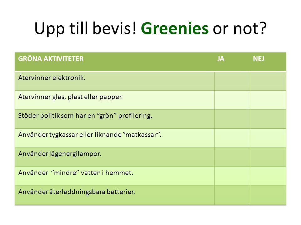 Greenies or not.