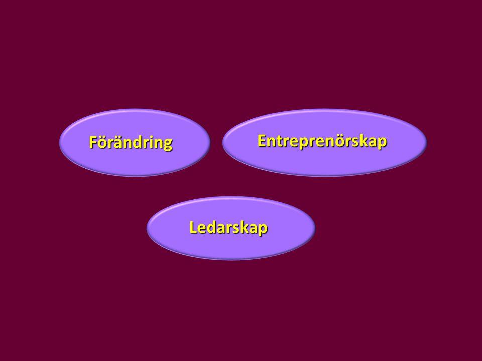 Ledarskap Entreprenörskap Förändring