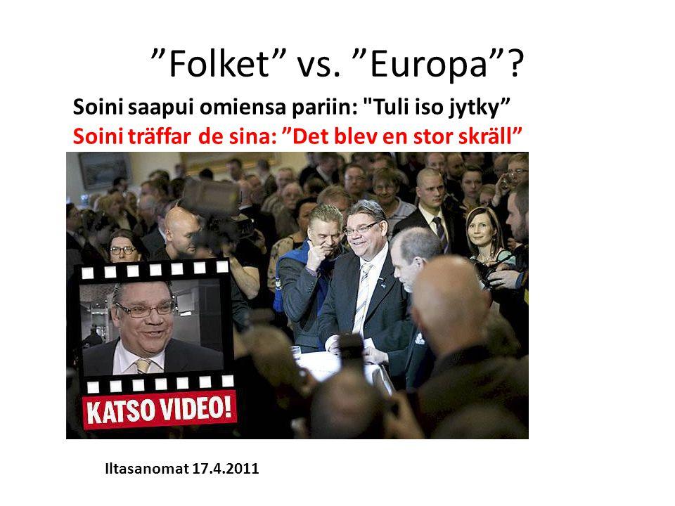 Folket vs. Europa .