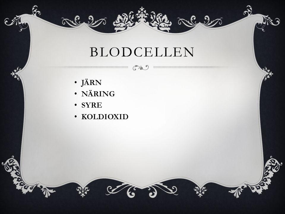 BLODCELLEN • JÄRN • NÄRING • SYRE • KOLDIOXID