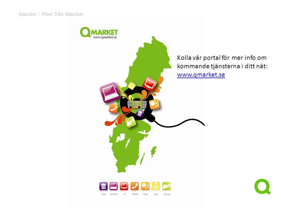Kolla vår portal för mer info om kommande tjänsterna i ditt nät: www.qmarket.se www.qmarket.se