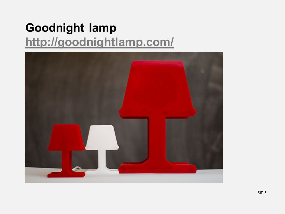 SID 5 Goodnight lamp http://goodnightlamp.com/ http://goodnightlamp.com/