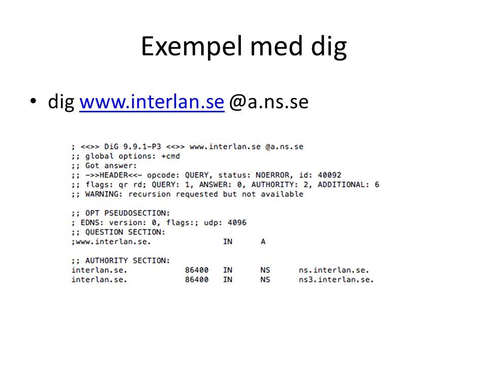Exempel med dig • dig www.interlan.se @a.ns.sewww.interlan.se