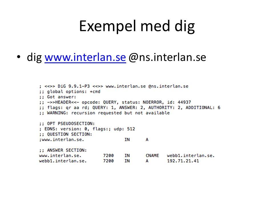 Exempel med dig • dig www.interlan.se @ns.interlan.sewww.interlan.se
