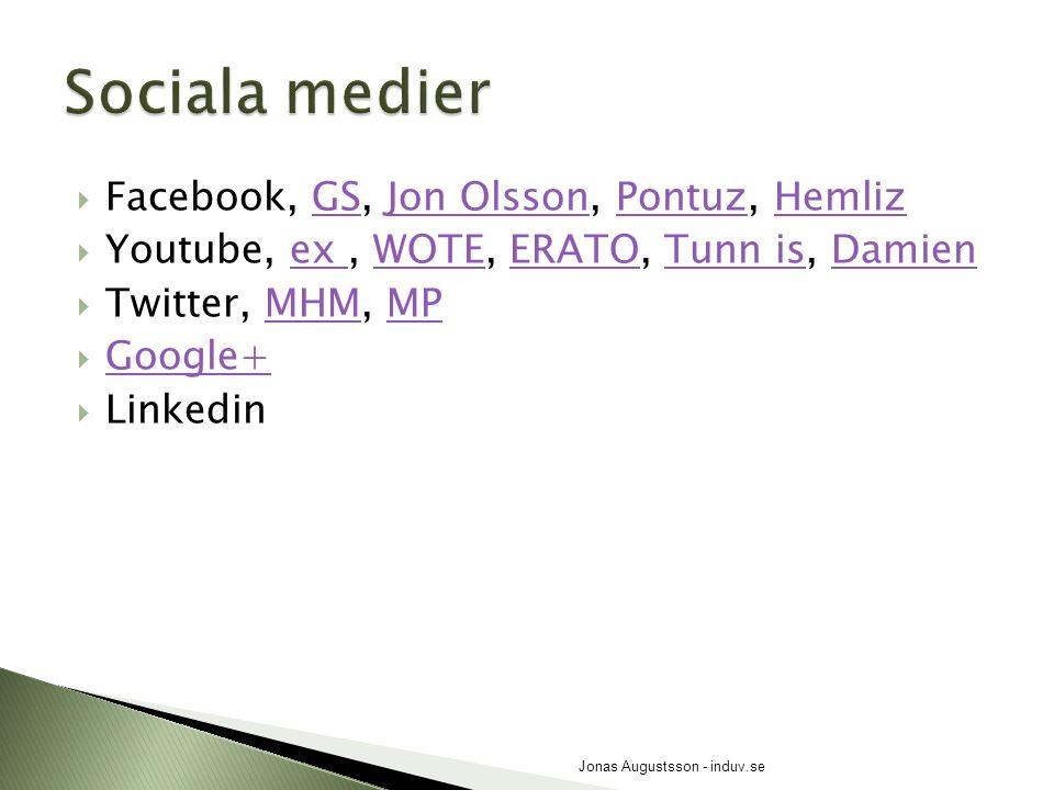  Facebook, GS, Jon Olsson, Pontuz, HemlizGSJon OlssonPontuzHemliz  Youtube, ex, WOTE, ERATO, Tunn is, Damienex WOTEERATOTunn isDamien  Twitter, MHM
