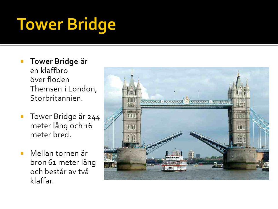  Tower Bridge är en klaffbro över floden Themsen i London, Storbritannien.