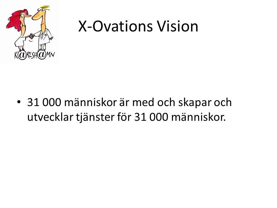 X-Ovations Vision • 31 000 människor är med och skapar och utvecklar tjänster för 31 000 människor.