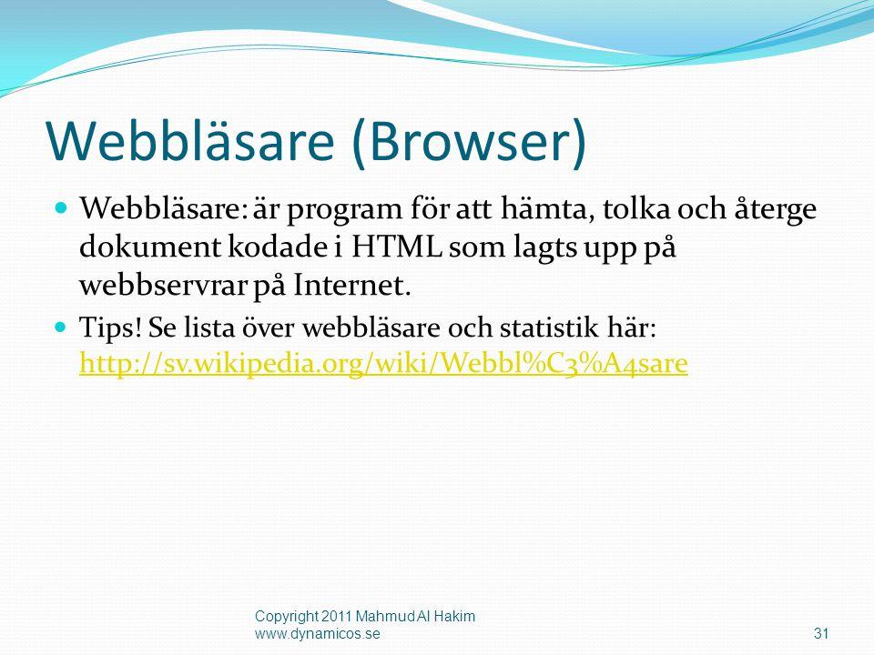 Ladda ner och installera Google Chrome och Firefox 32 Copyright 2011 Mahmud Al Hakim www.dynamicos.se