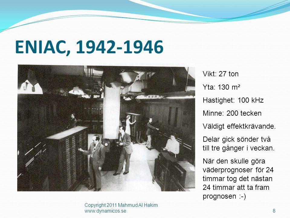 Persondator  Första PC lanserades av IBM 1981 9 Copyright 2011 Mahmud Al Hakim www.dynamicos.se