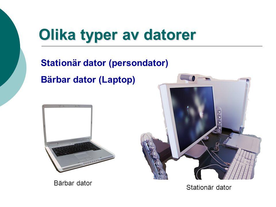 Men först en fråga. Vad är en dator?  En dator (ursprungligen datamaskin) är en maskin som kan bearbeta data och utföra beräkningar på ett mycket eff