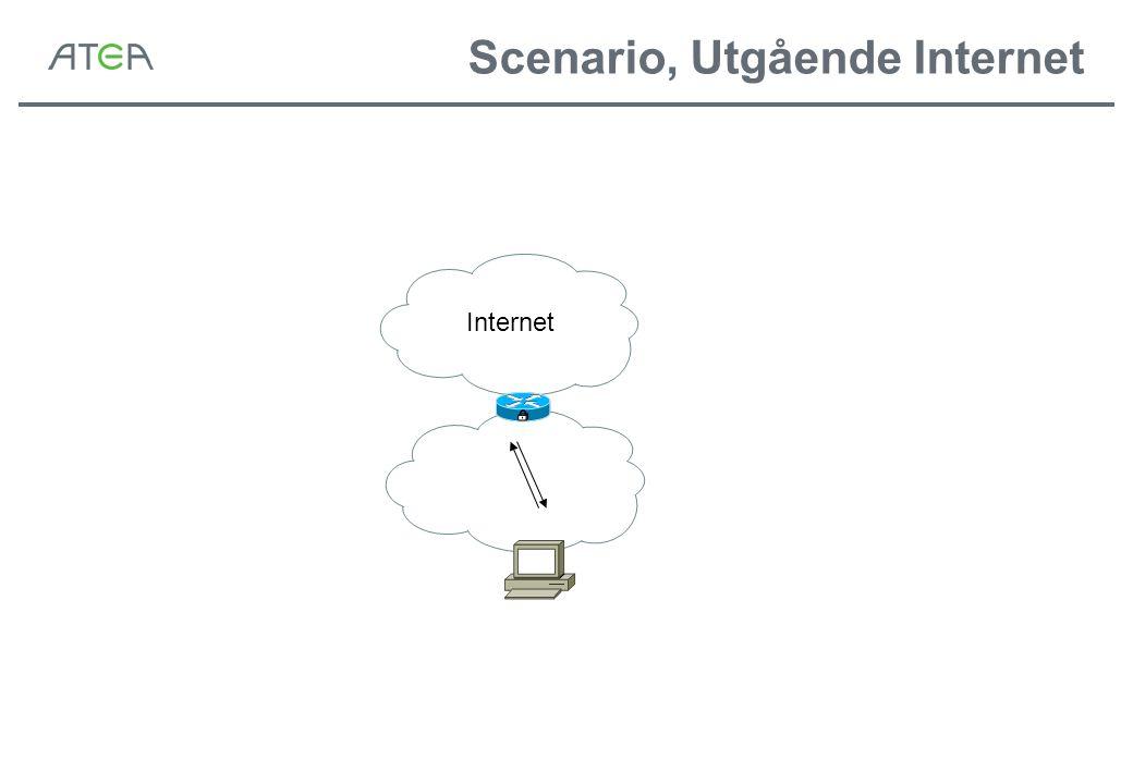 Scenario, Utgående Internet Internet