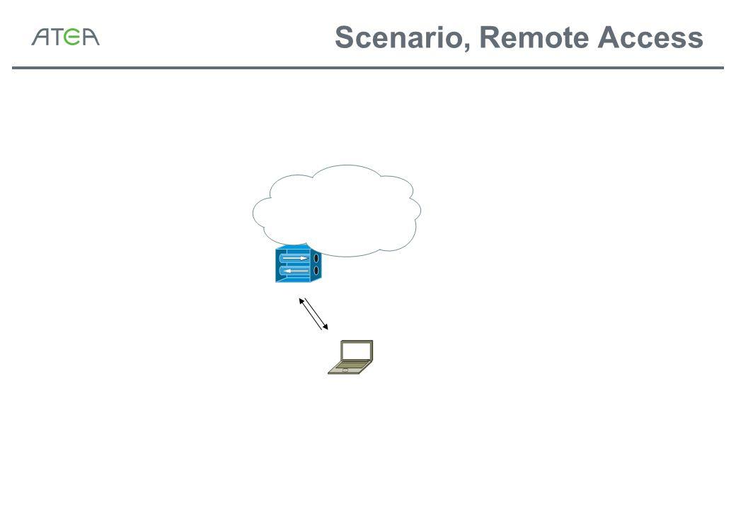 Scenario, Remote Access