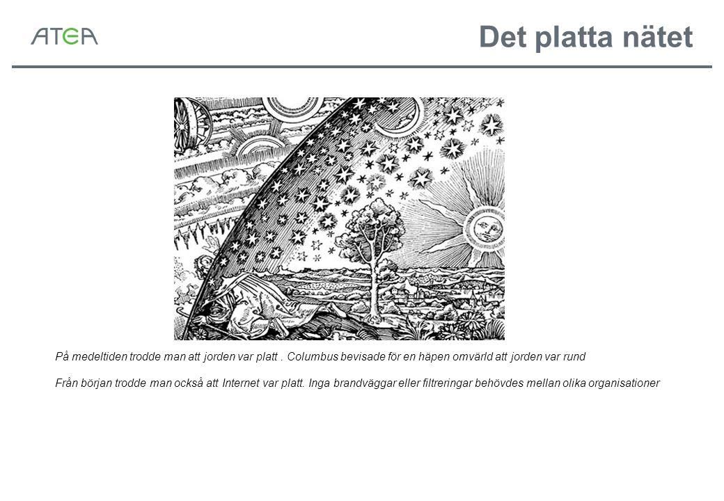 Det platta nätet På medeltiden trodde man att jorden var platt.