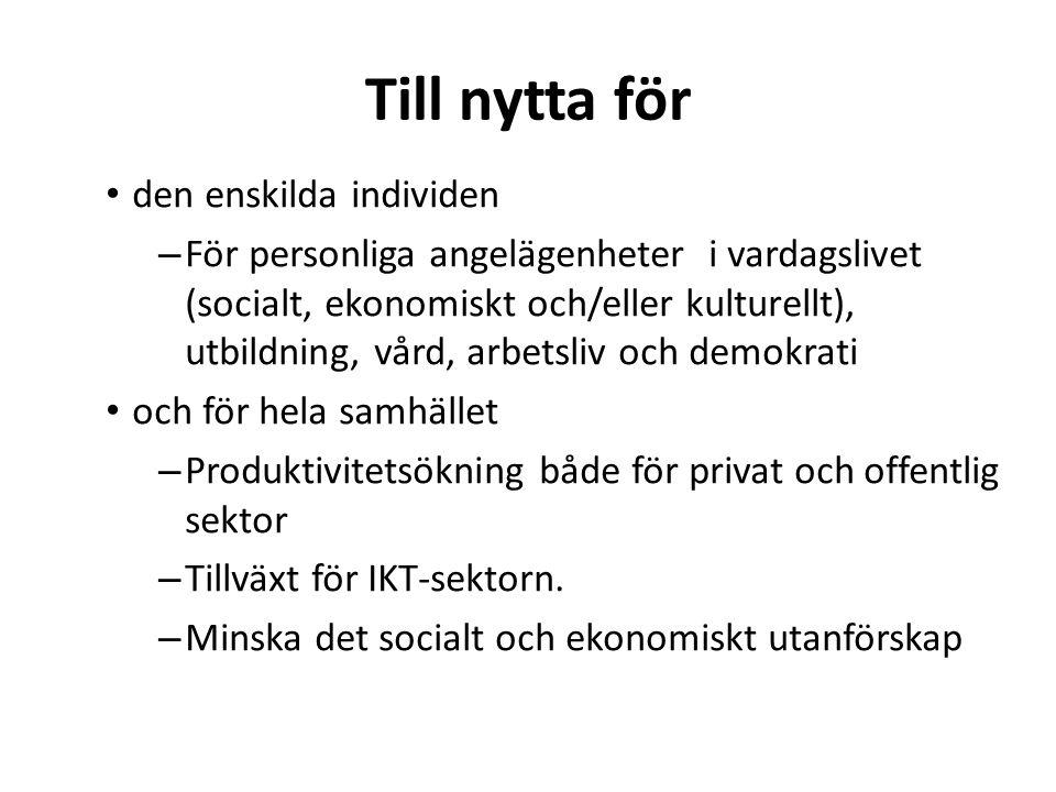 Källa: Svenskarna och Internet 2010