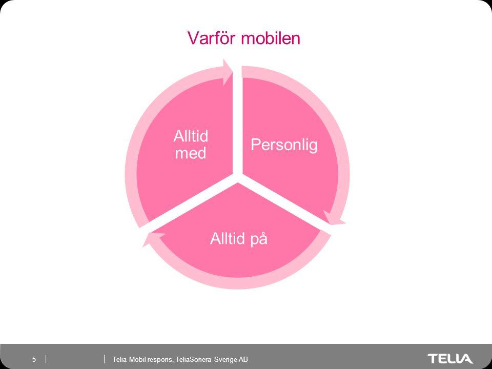 Telia Mobil respons, TeliaSonera Sverige AB 5 Varför mobilen Personlig Alltid på Alltid med