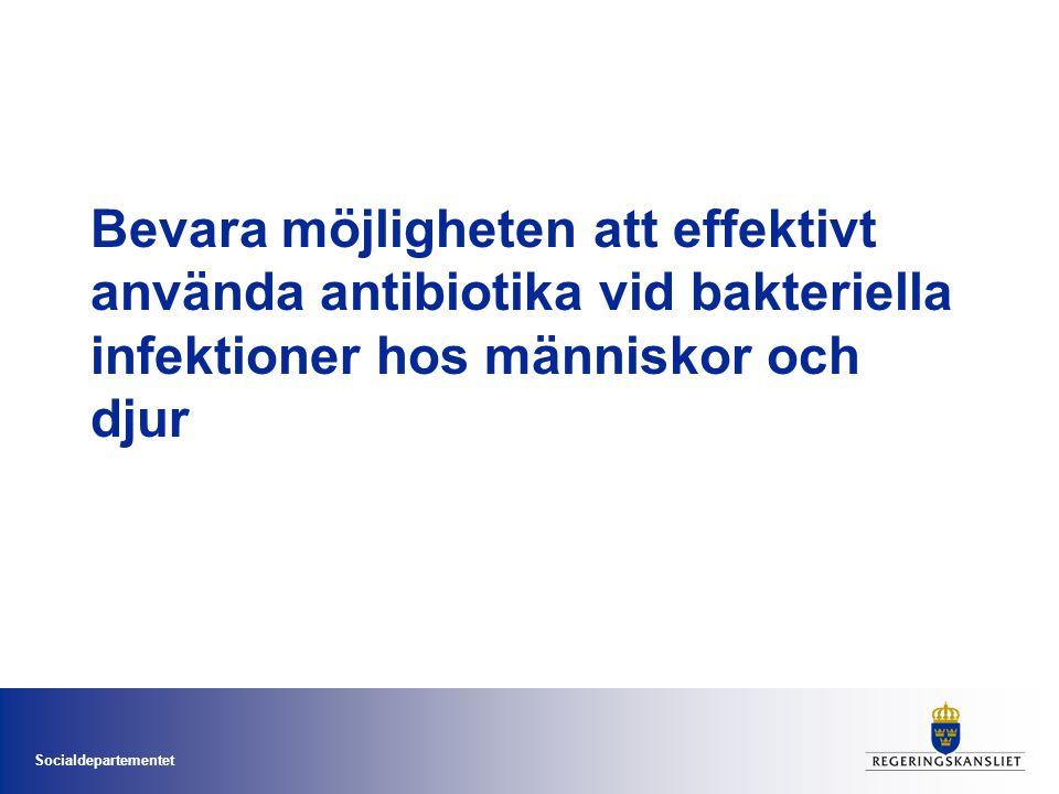 Socialdepartementet Bevara möjligheten att effektivt använda antibiotika vid bakteriella infektioner hos människor och djur