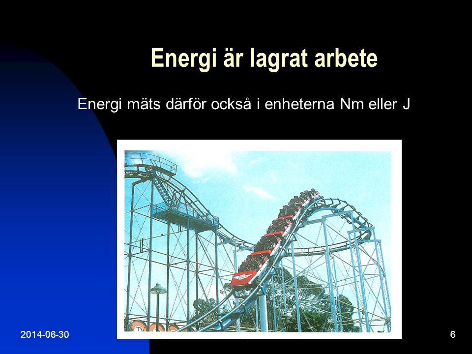 2014-06-307 Energiprincipen säger att energi inte kan skapas eller förstöras.