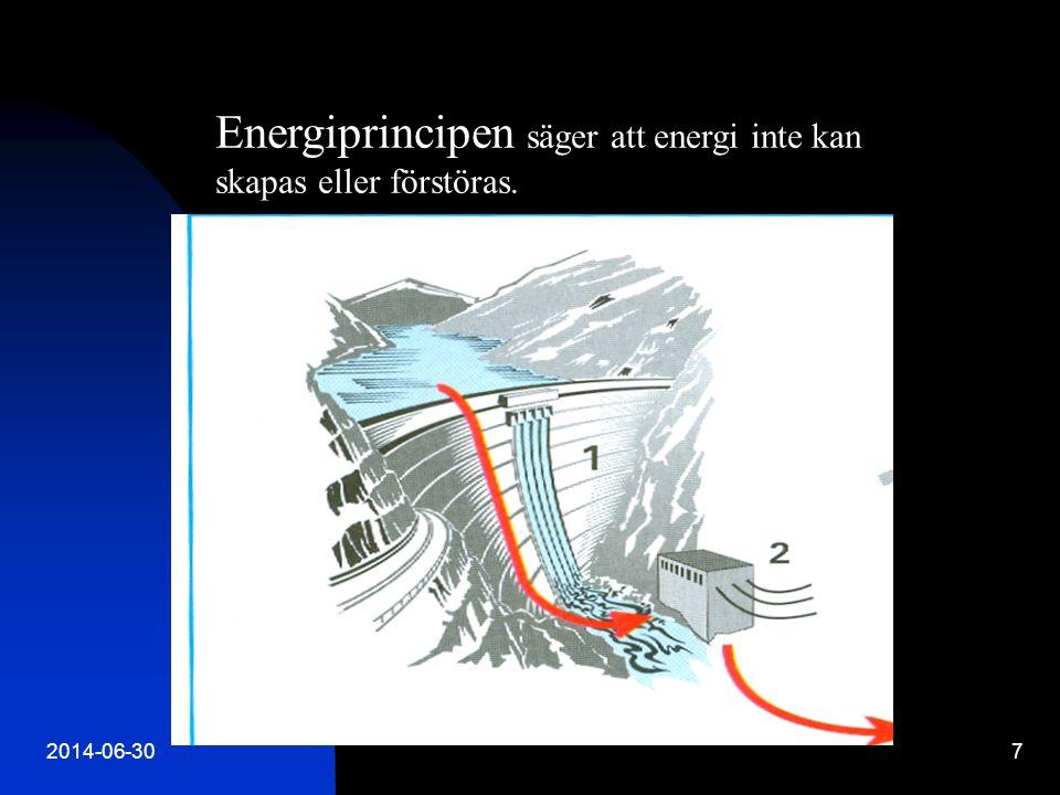2014-06-3018 Verkningsgrad Utnyttjad energi / Tillförd energi