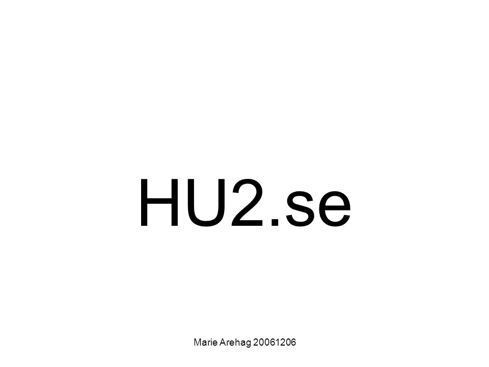Marie Arehag 20061206 HU2.se