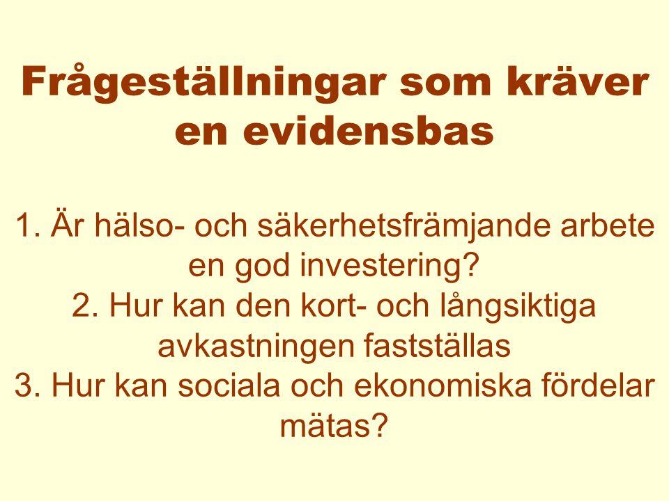 SÄKERHETSFRÄMJANDE ARBETE EVIDENSBAS FÖR BARN