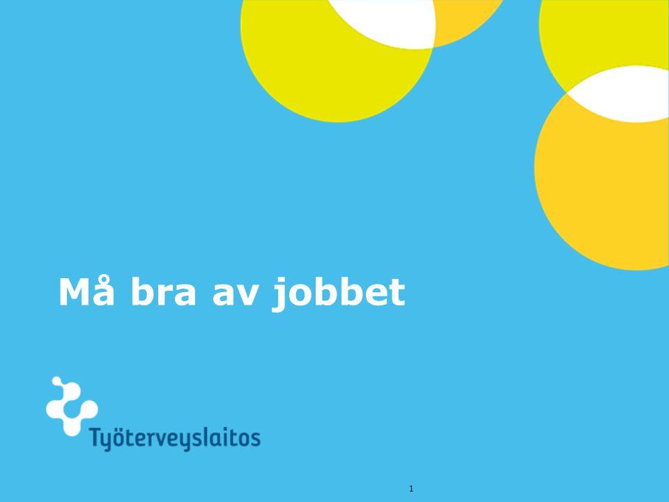 © Työterveyslaitos – www.ttl.fi Må bra av jobbet 1