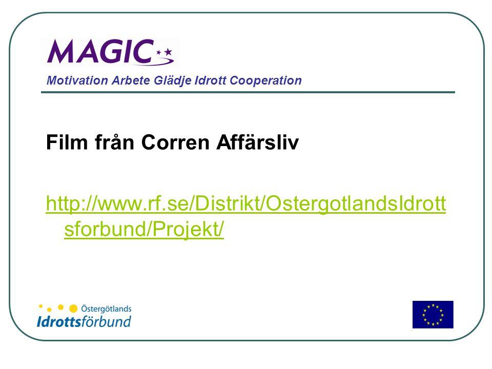 Motivation Arbete Glädje Idrott Cooperation Film från Corren Affärsliv http://www.rf.se/Distrikt/OstergotlandsIdrott sforbund/Projekt/