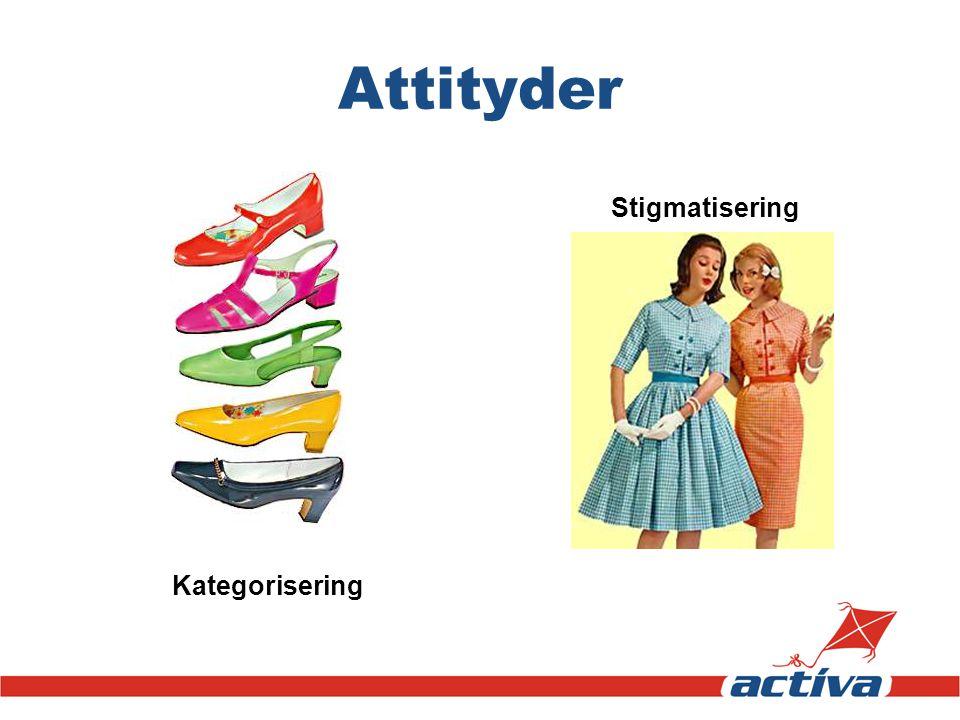 Attityder Kategorisering Stigmatisering