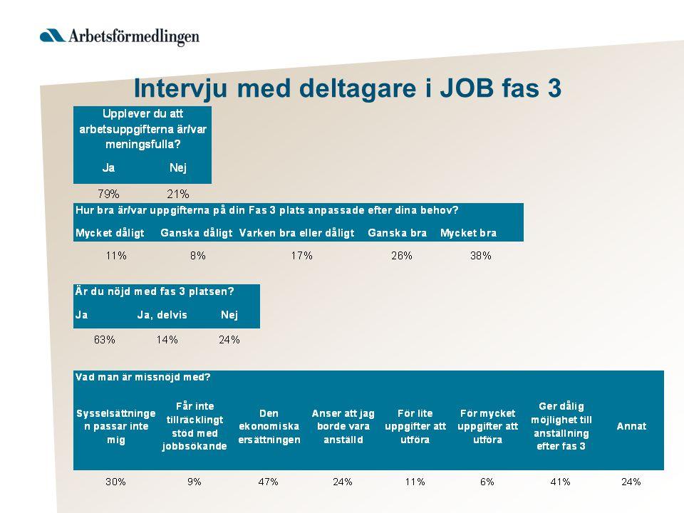 Intervju med deltagare i JOB fas 3
