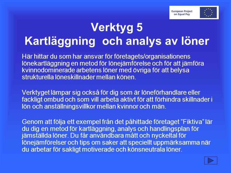 D 4 Analys av lönespridning Studera lönespridningen i lika arbeten.